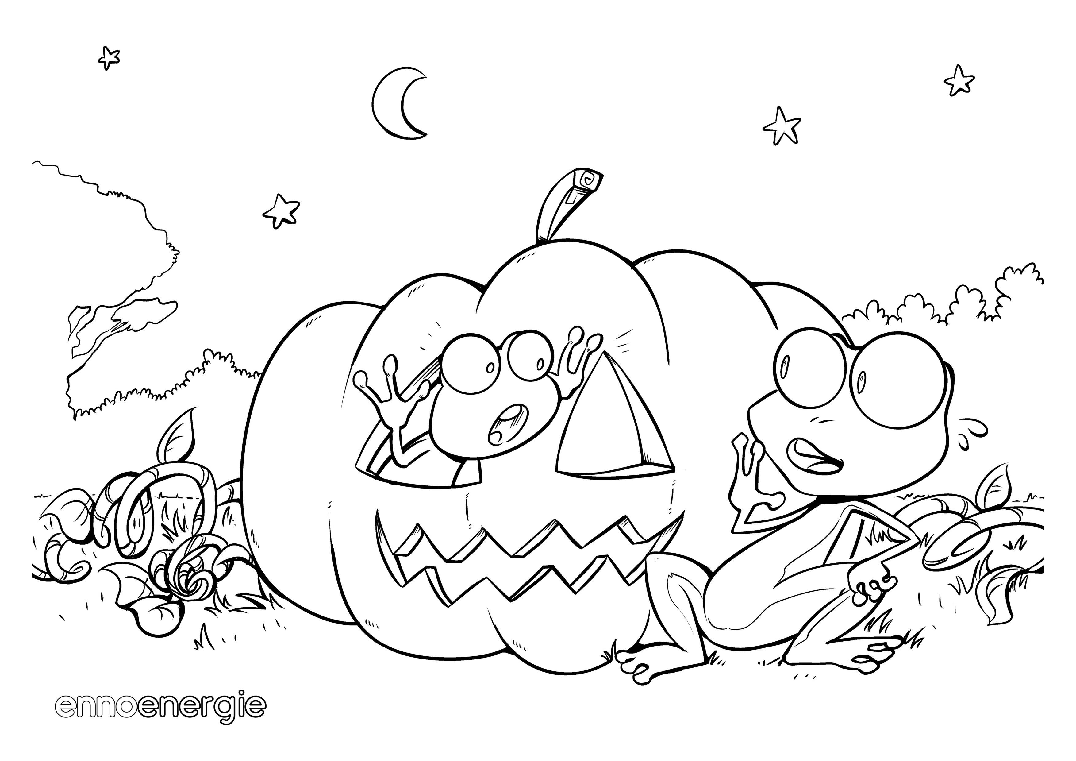 Ausmalbilder Für Halloween : Gem Tlich Ausmalbilder F R Halloween Zeitgen Ssisch Malvorlagen